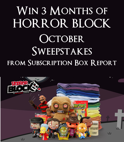 Win 3 Months of Horror Block from Subscription Box Report