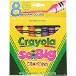 Crayola Llc Formerly Binney & Smith Bin389 Crayons Jumbo 8Ct Peggable Tuck Box