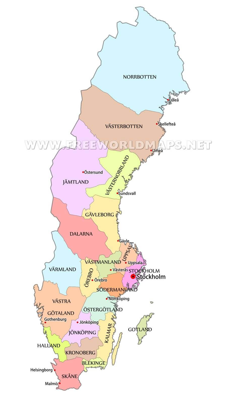 Sweden Maps By Freeworldmaps Net
