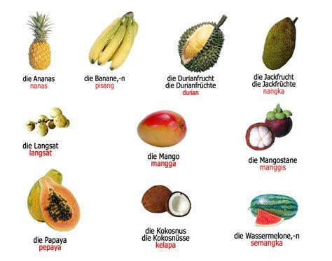 das obst  buah buahan bahasa jerman