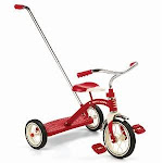 Radio Flyer 34T Classic Red 10 Tricycle with Push Handle