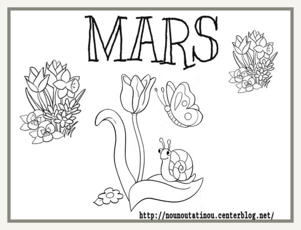 Coloriage Du Mois De Mars