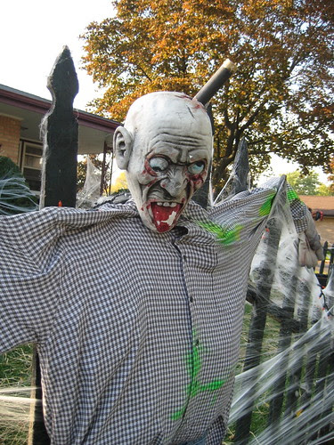 Halloween decoration--scary face
