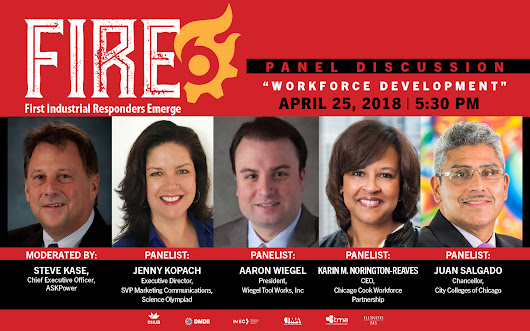 mHUB Presents, First Industrial Responders Emerge (FIRE) Panel Discussion: Manufacturing Workforce Development - mHUB | Chicago, IL