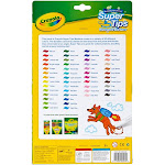 Crayola Washable Super Tips Fine Line Markers - Assorted Ink - 50 / Pouch (585050)