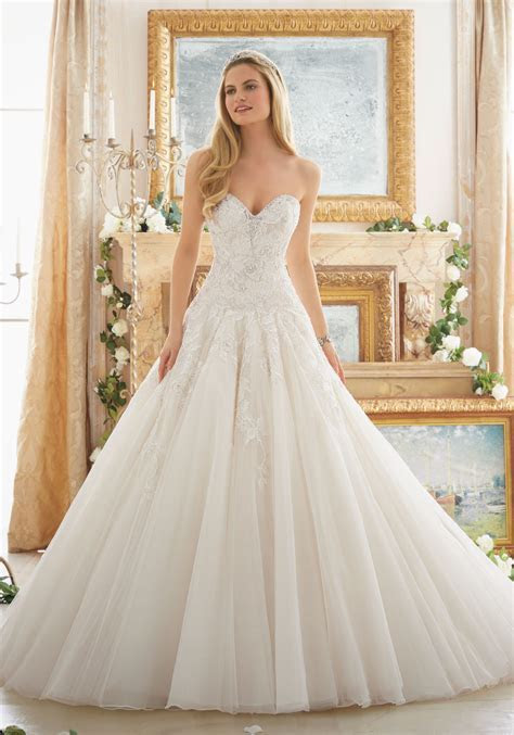 Dreamy Ball Gown Wedding Gown   Style 2877   Morilee