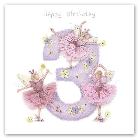 3rd Birthday Card Girl   Fairy BIRTHDAY Card   HAPPY