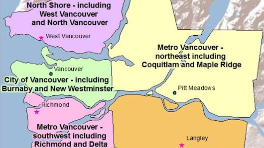 Environment Canada gives Metro Vancouver 5 sub-regional weather zones
