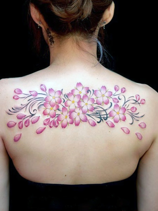 Back Cherry Blossom Tattoo Design Of Tattoosdesign Of Tattoos