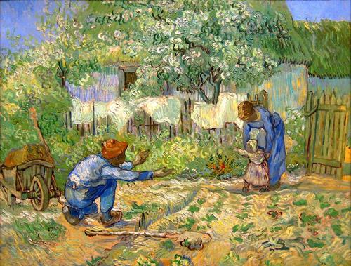 Criança Primeiros Passos De Vincent Van Gogh Na Tela Repro