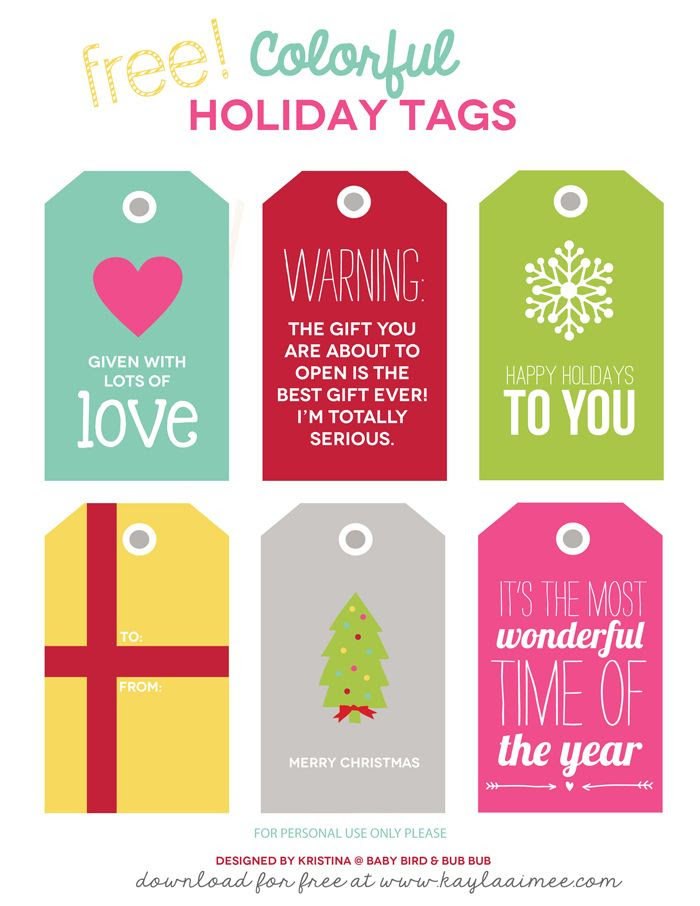 1000+ images about Free Printable Gift Tags on Pinterest ...