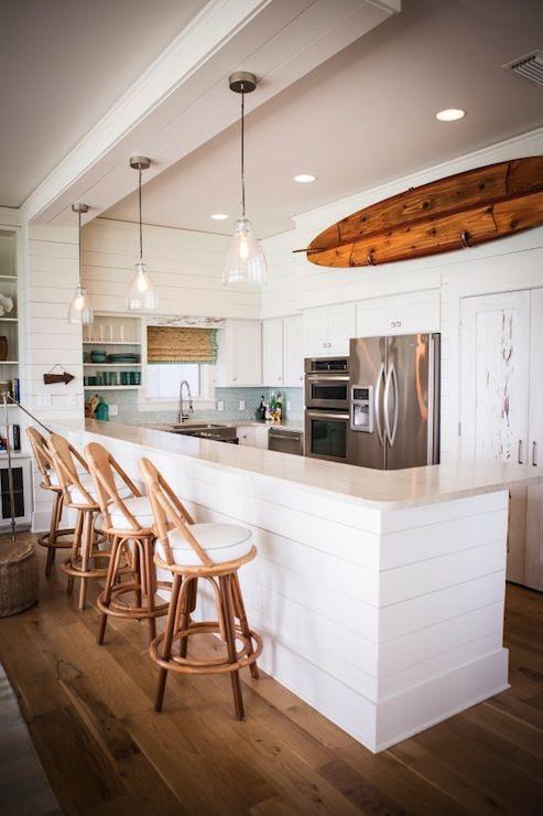 Kitchen beach cottage white cabinets Bay House Ideas