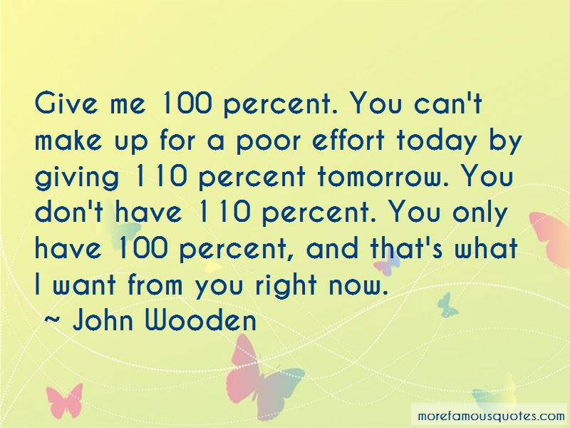 Quotes About Giving 100 Percent Effort Top 1 Giving 100 Percent
