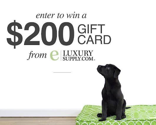 Win a $200 eLuxury Supply Gift Card from Whole Heart & Home!