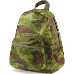 "Zodaca 11.5"" Stylish Green Camo Small Kids Children Outdoor Backpack Schoolbag School Bag for Kids Girls Boys (Size: 9.25"" L x 3.5"" W x 11.5"" H)"
