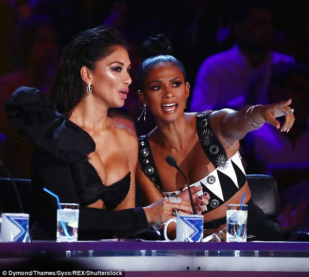 Double act: Nicole and Alesha proved to be quite the sister act as they joined each other on the panel