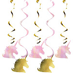 Creative Converting Sparkle Unicorn Dizzy Danglers - 5 pack
