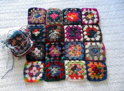 Granny Square Pillow