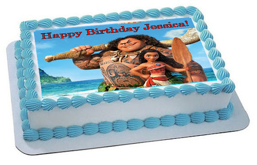 Moana 3 Edible Cake Topper & Cupcake Toppers – Edible Prints On Cake (EPoC)