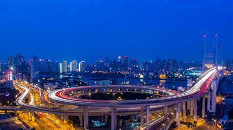 Download 1920x1080 HD Wallpaper shanghai highway bridge