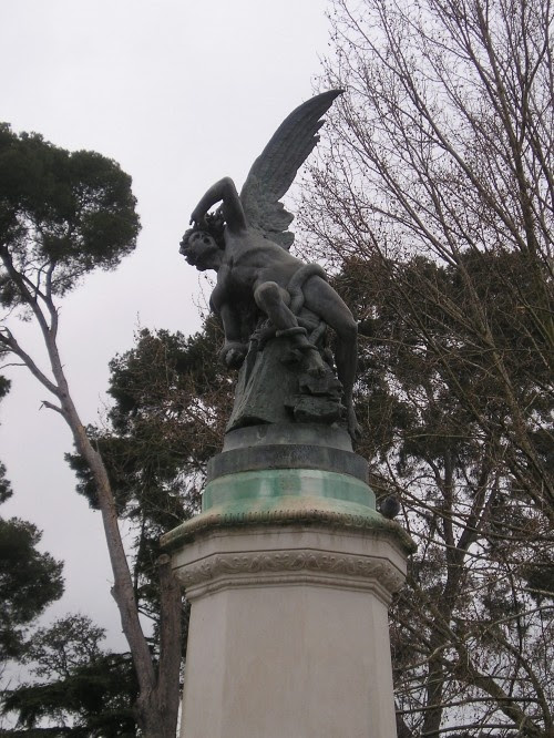"""El Angel Caido"" at Parque del Buen Retiro in Madrid, Spain. Dying to go back."
