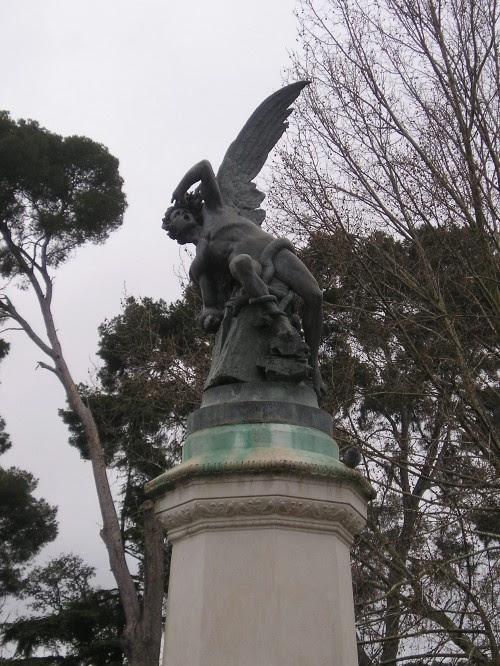 """El Angel Caido"" at Parque del Buen Retiro in Madrid, Spain. Dying to go back."