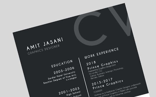 10 one-page CV templates for 2018 - CV Template Master