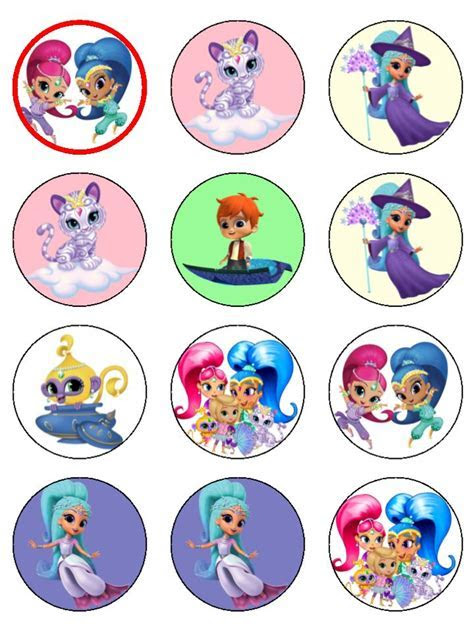 Shimmer And Shine Cupcake Toppers   Topcake Ireland