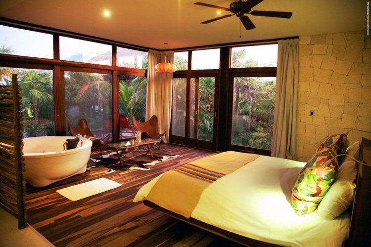 Tropical mansion bedroom designs