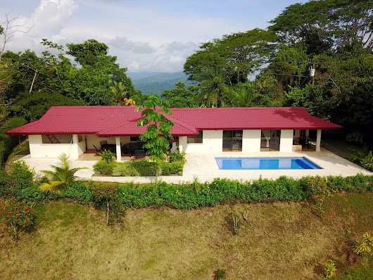 0.92 ACRES - 2 Bedroom Ocean View Home With Pool Located In Lagunas!! - Costa Rica Real Estate