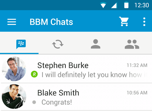 BBM for Android gets Material Design Makeover