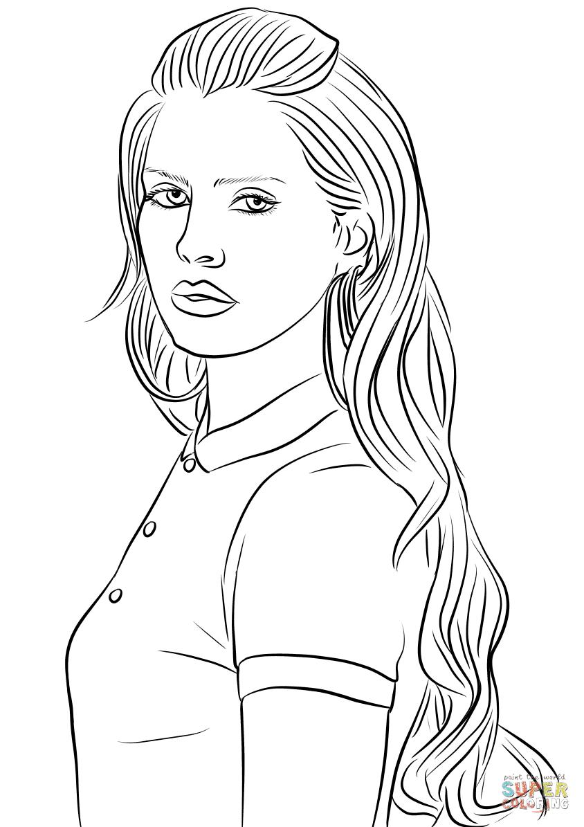 Dibujo De Lana Del Rey Para Colorear Dibujos Para Colorear