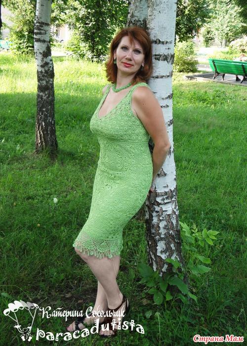 Lace dress by Natalia Yakimenko.