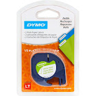 Dymo LetraTag Paper Label Tape Cassettes, Black/White - 2 pack