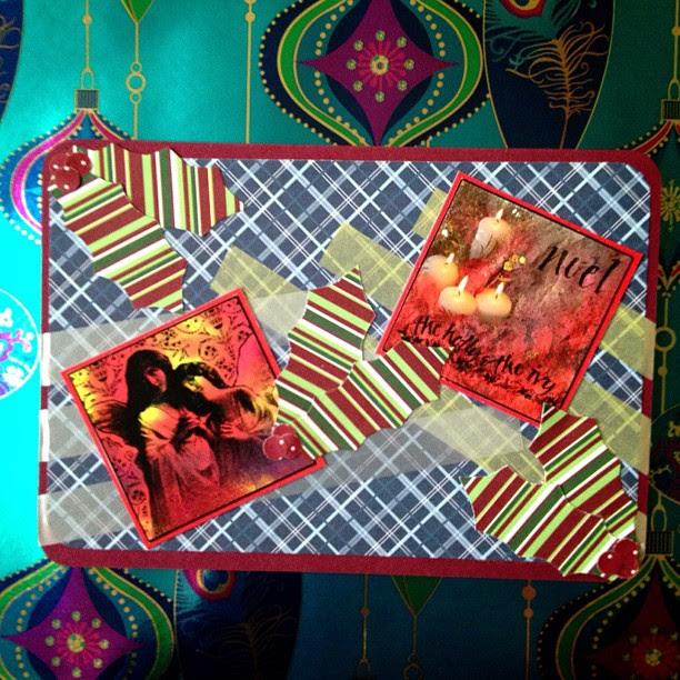 #angels #holly #washitape #postcard #christmas #snailmail