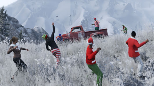 You can now have snowball fights in Grand Theft Auto V