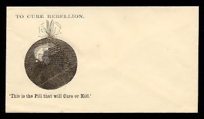 Civil war bomb propaganda envelope