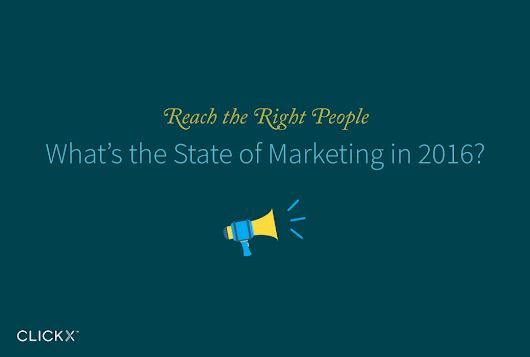 What's the State of Marketing in 2016? [Infographic] - Clickx