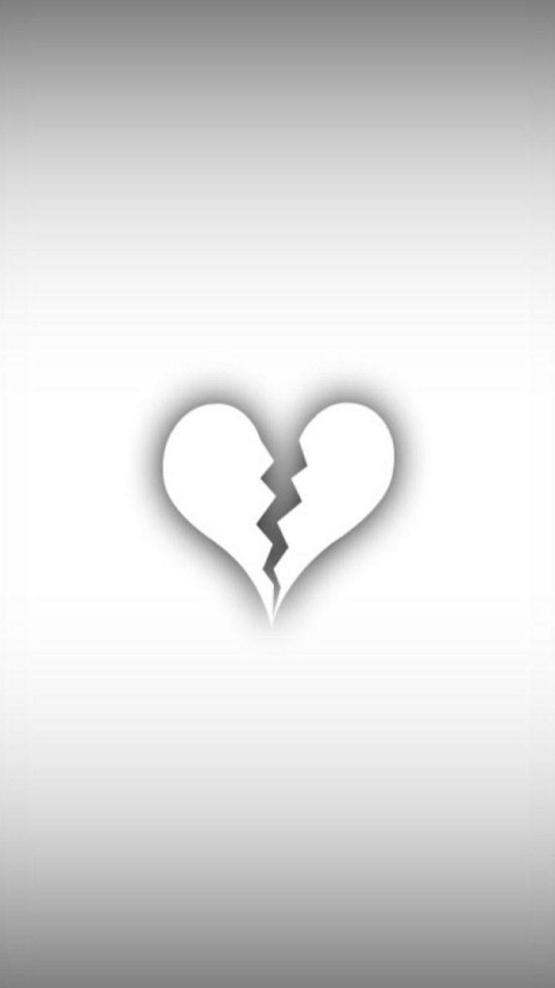 Aesthetic Broken Heart Cute Black Wallpaper Largest Wallpaper Portal
