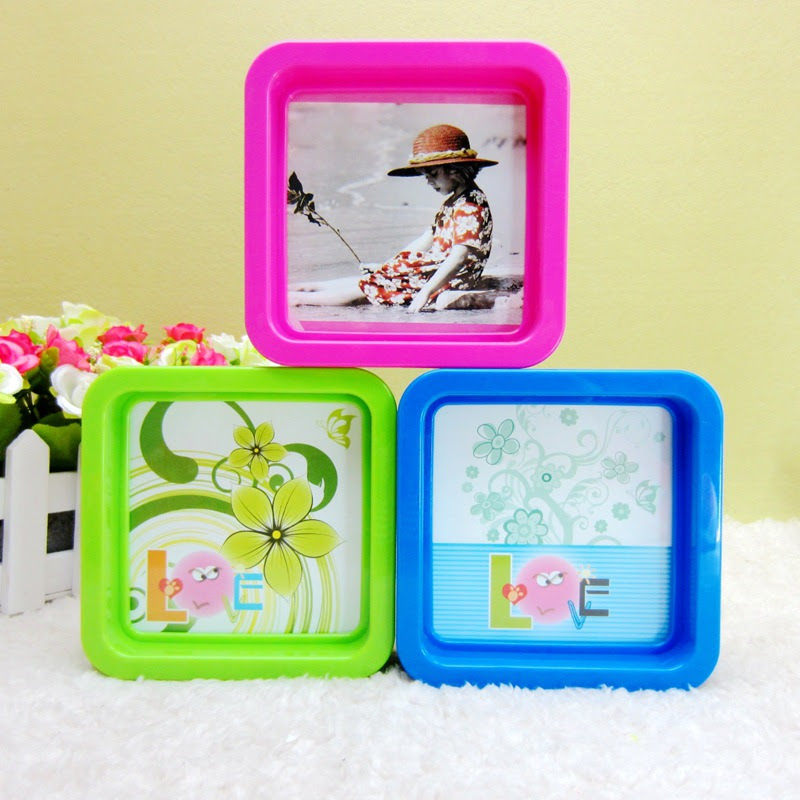 Supply Square Childrens 4 Inch Photo Frame Creative Gift Plastic