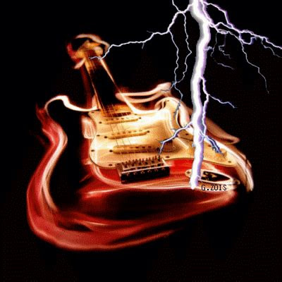animated  gif electric guitar   lightning