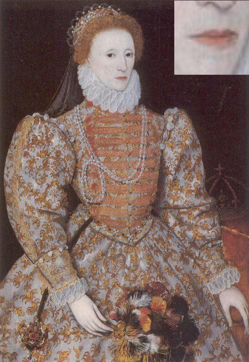 reina elizabeth I darnley labios