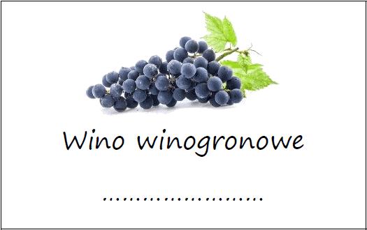 Etykiety Na Wino Winogronowe Domowe Przepisy