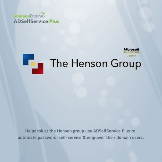 The Henson Group automates password management with the help of ADS...