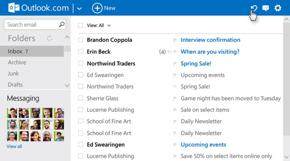 Atualização traz novo visual e mais opções para o Outlook
