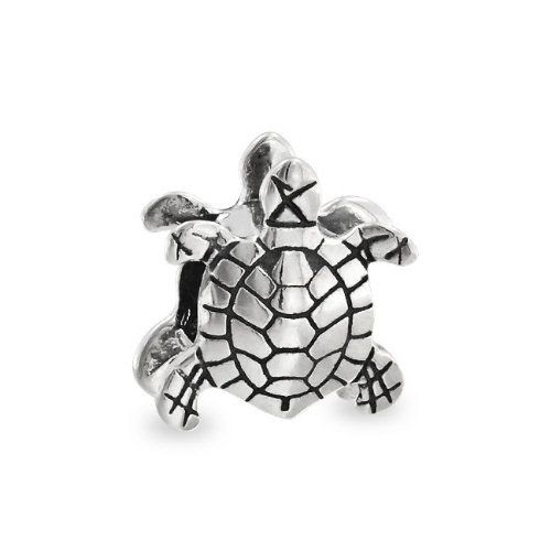 Bling Jewelry .925 Sterling Silver Sea Turtle Nautical Animal Bead Charm Pandora Compatible: Jewelry
