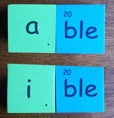 able ible ble suffix 字尾 adjectives 形容詞