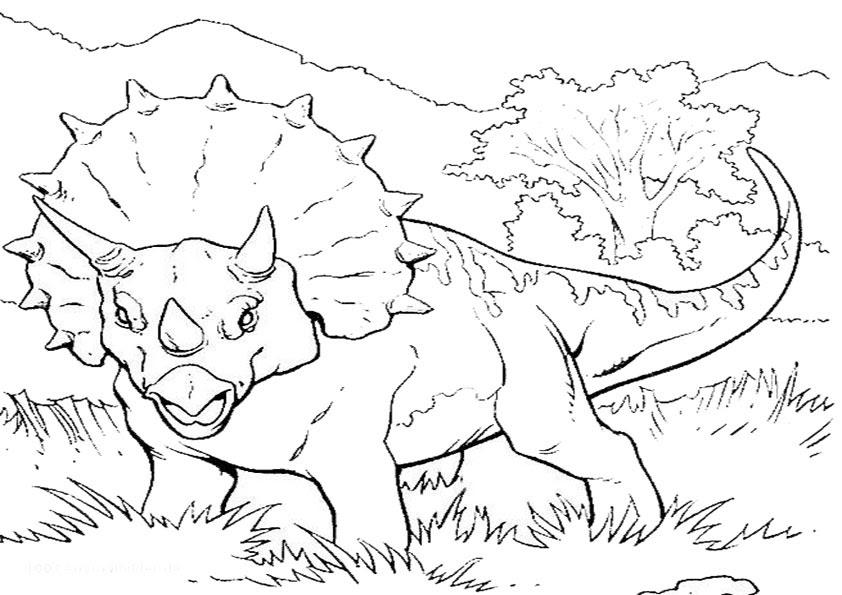 Ausmalbilder Dino Calendar June