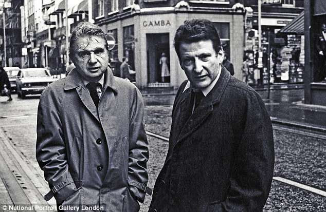 Portrait Of Francis Bacon was spirited out of Berlin's National Gallery 30 years ago. Pictured: Francis Bacon and Lucien Freud