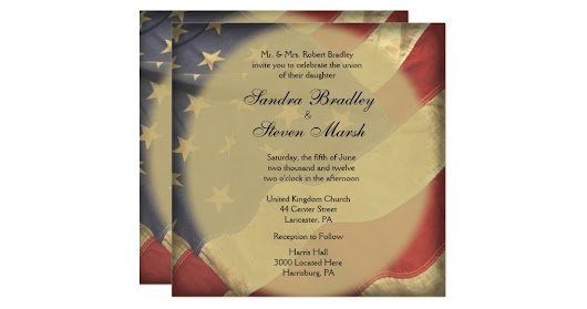 American Flag Wedding Invitations | My Interests Scooped for You